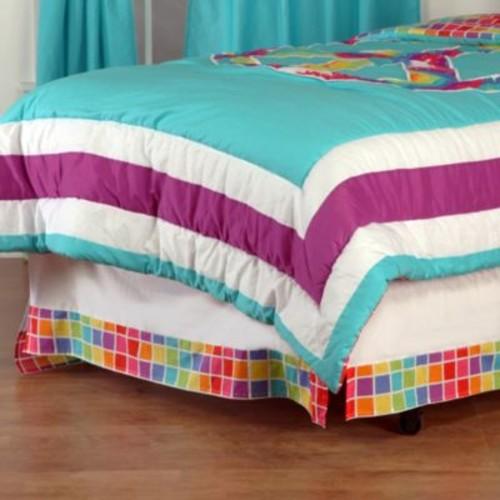 One Grace Place Terrific Tie Dye Twin Bed Skirt