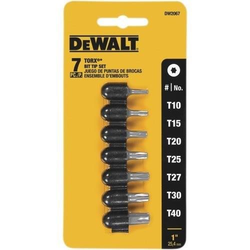 DEWALT DW2067 Torx Insert Bit Set, 7-Piece