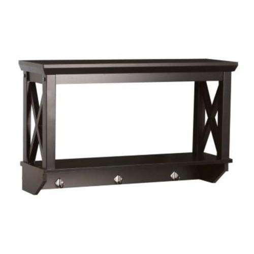 RiverRidge X-Frame Bathroom Wall Shelf - Espresso Finish