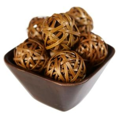 Nearly Natural 2.25 in. H Brown Decorative Balls (Set of 12)