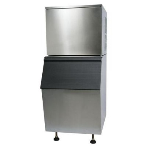 Norpole Commercial 330 lb. Freestanding Ice Maker in Stainless Steel
