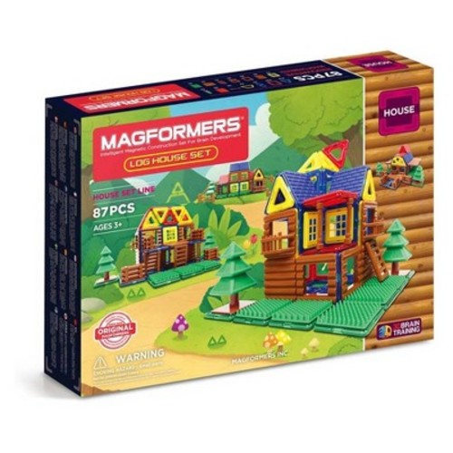 Magformers Log Cabin Building Set - 87pc