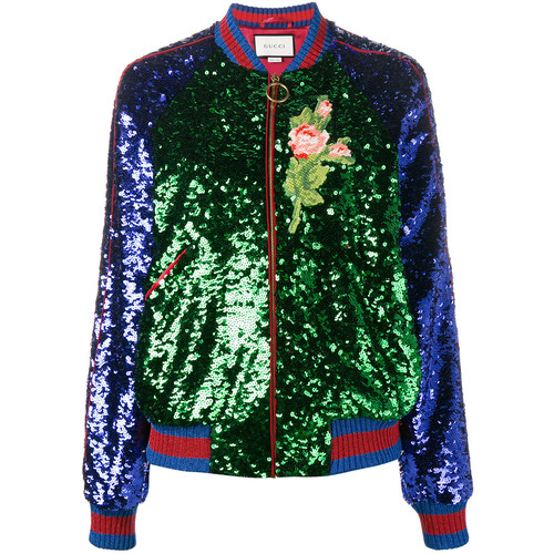 GUCCI Sequin Embellished Bomber Jacket