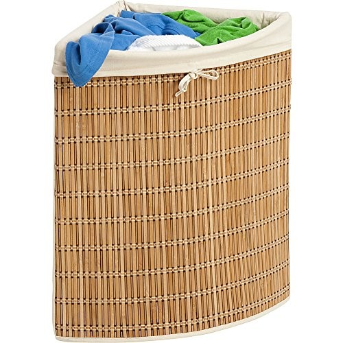 Honey-Can-Do Bamboo Wicker Corner Hamper [natural]