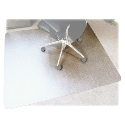 Floortex Polycarbonate Rectangular Chair Mat For Thick Carpet, 53