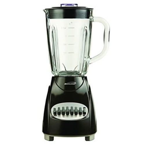 Brentwood 12 Speed Blender With 1.25 Litre Glass Jar, Black