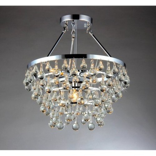 Warehouse of Tiffany RL9795 Crystal Semi Flush Light