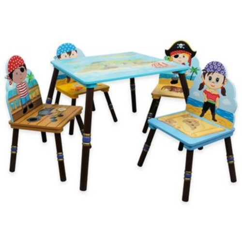 Teamson Fantasy Fields Pirates Island 5-Piece Table and Chair Set