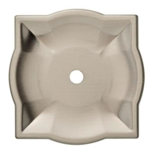 Liberty 2 in. Satin Nickel Quatrefoil Cabinet Knob Backplate