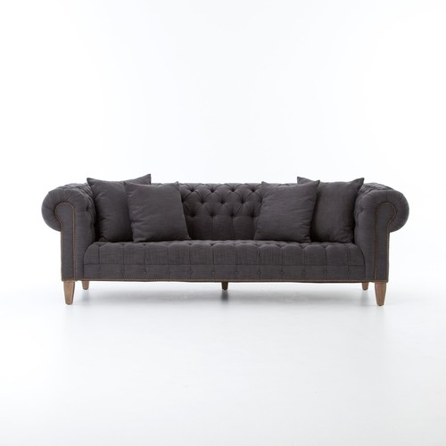 Deep Chesterfield Sofa in District Sterling