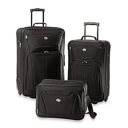 American Tourister Fieldbrook II 3-Piece Rolling Luggage Set in Black