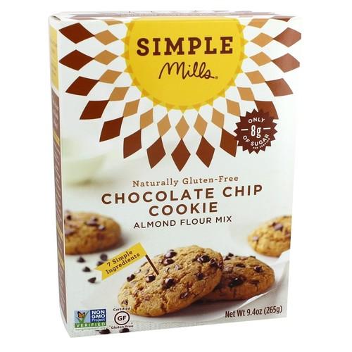 Simple Mills - Naturally Gluten-Free Almond Flour Mix Chocolate Chip Cookie - 9.4 oz.