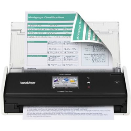 Brother ADS-1500W Compact Color Wireless Desktop Scanner, Refurbished