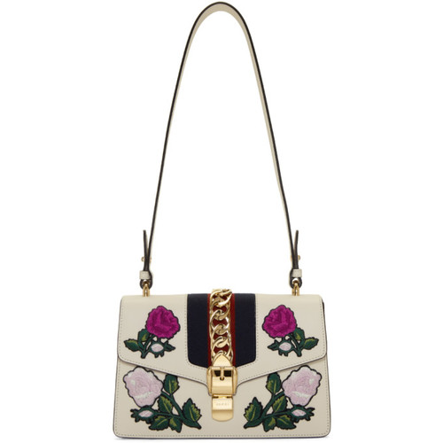 White Small Sylvie Shoulder Bag