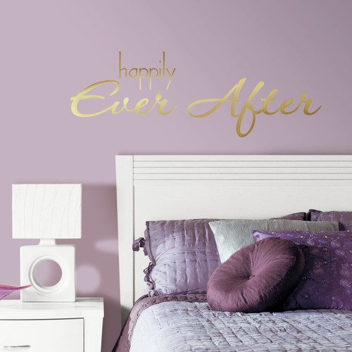 RoomMates Happily Ever After Quote Peel and Stick Wall Decals