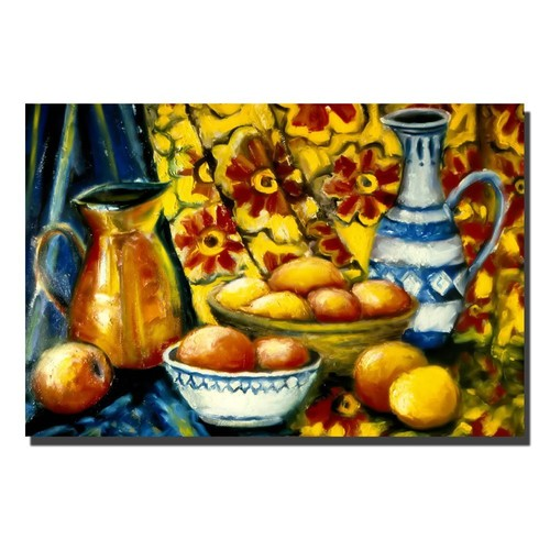 Still Life with Oranges by Michelle Calkins, 22x32-Inch Canvas Wall Art [22x32-Inch]