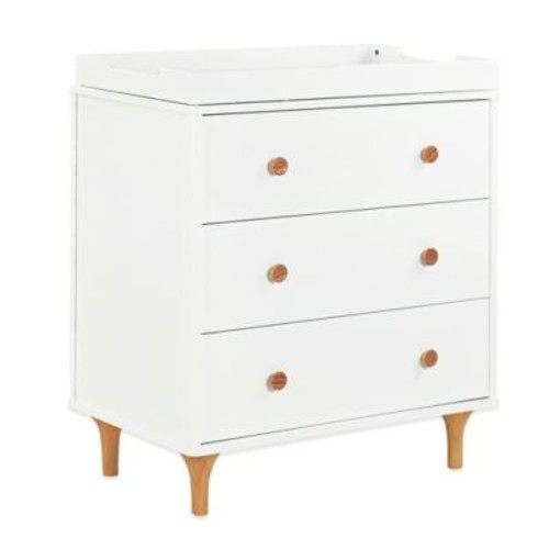 Babyletto Lolly 3-Drawer Changer Dresser in White/Natural