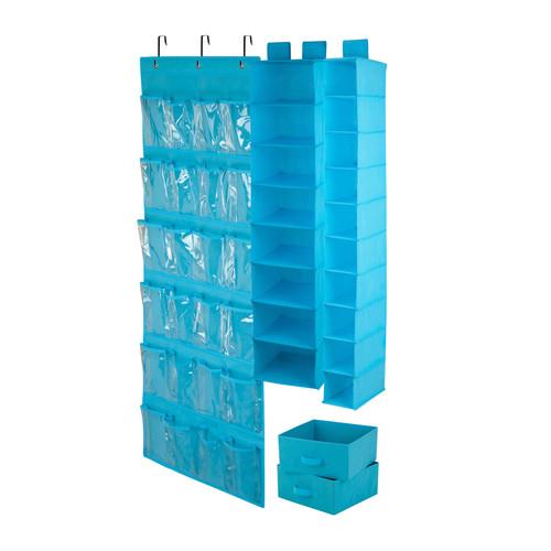 Honey-Can-Do 4-Pc. Room Organization Set - Ocean Blue