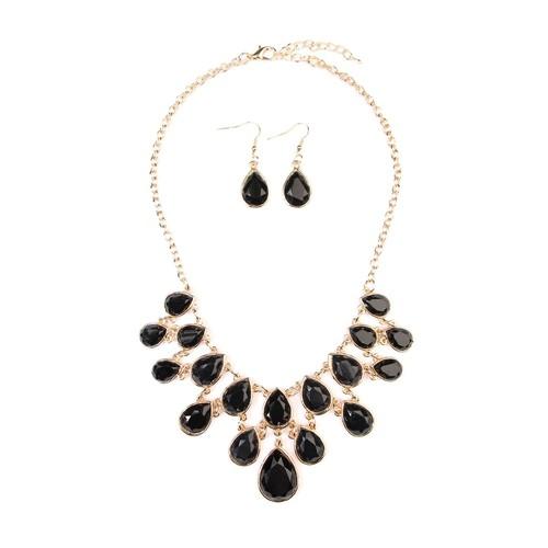 Teardrop Necklace Earring Set