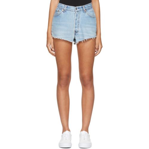 RE/DONE Blue Levi'S Edition Classic Denim Shorts