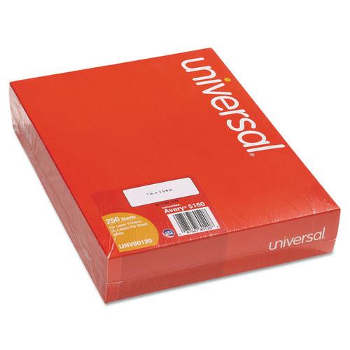 Universal Laser Printer Permanent Labels 2-5/8 x