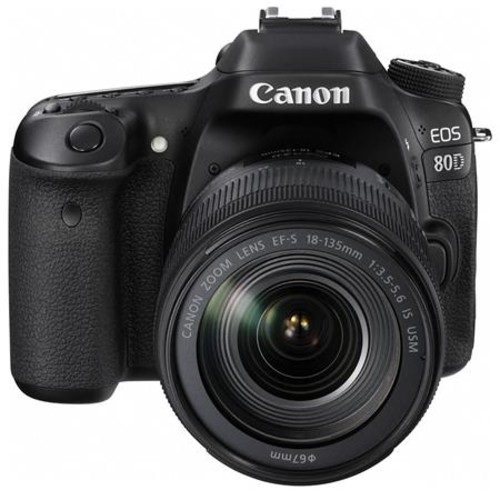 Canon EOS 80D DSLR with 18-135mm USM Lens and Canon Connect Station