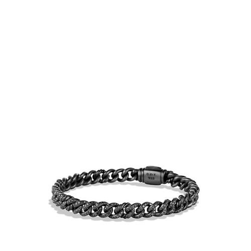 'Petite Pav' Curb Link Bracelet