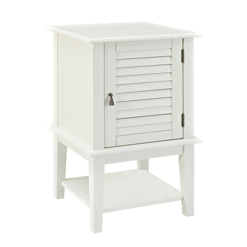 Powell Coffee, Console, Sofa & End Tables Powell Penelope White Shutter Door Table