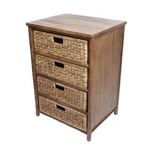 Heather Ann 4 Drawer Cabinet; Brown