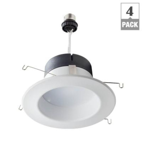Philips 65W Equivalent Daylight 5/6 in. Retrofit Trim Recessed Downlight Dimmable LED Flood Light Bulb (E)* (4-Pack)