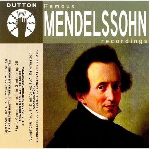 Famous Mendelssohn Recordings [CD]