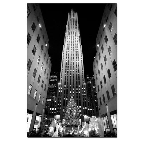Trademark Global Yale Gurney 'Rockefeller Night' Canvas Art [Overall Dimensions : 18x24]