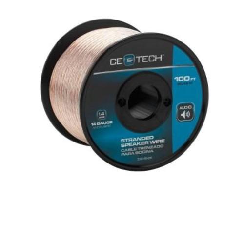CE TECH 100 ft. 14-Gauge Stranded Speaker Wire