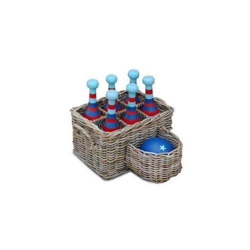 7 Piece Wooden Bowling Set