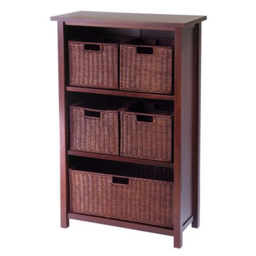 Winsome Milan 6pc Cabinet/Shelf & Baskets