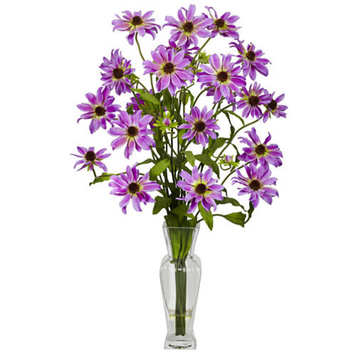 Cosmos With Vase Silk Flower Arrangement
