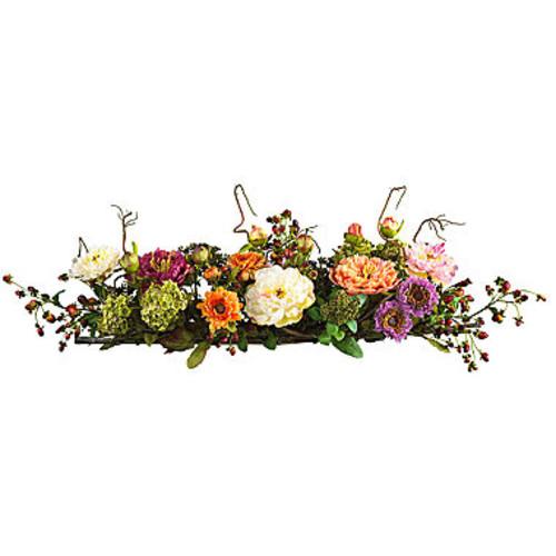 Nearly Natural Mixed Peony Centerpiece Silk Flower Arrangement - JCPenney