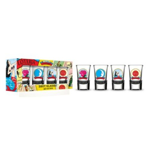 Loteria Female Character Shot Glass (Set of 4)