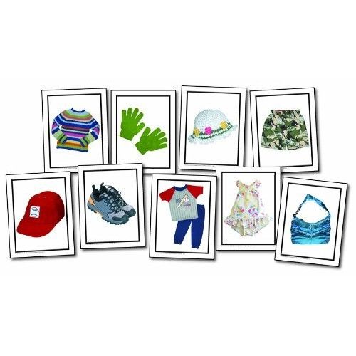 Nouns: Childrens Clothing Learning Cards