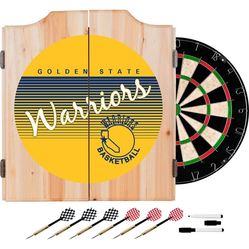 Trademark Global Golden State Warriors Hardwood Classic Dart Set