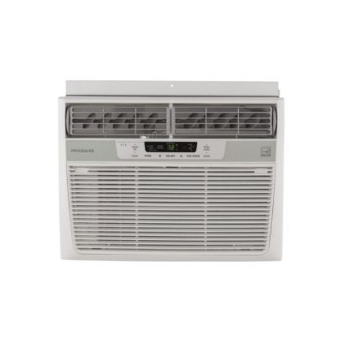 10000 BTU Window-Mounted Compact Air Conditioner and Temperature Sensing Remote Control