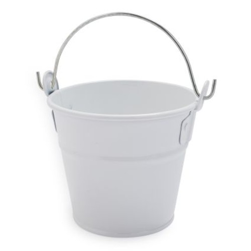 White Galvanized Bucket
