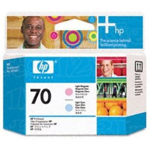 Hewlett Packard C9408A (HP 70) Blue & Green Original Ink Cartridge Printhead in Retail Packaging