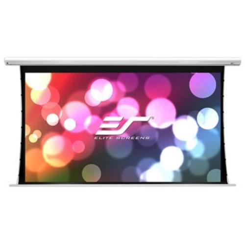 Elite Screens Saker White Electric Projection Screen; 120'' Diagona 4:3, 9'' Drop