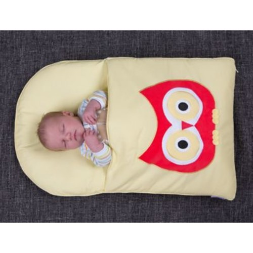 zCush Cotton Characters Nap Mat; Yellow Owl