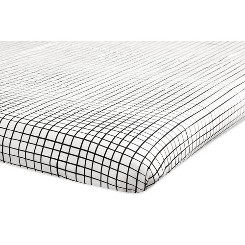 Babyletto Tuxedo Grid Print Mini Crib Sheet