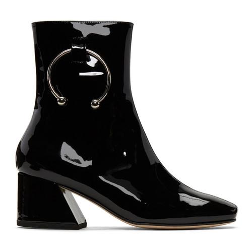 Black Patent Nizip Boots