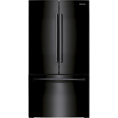 Samsung - 25.5 Cu. Ft. French Door Refrigerator with Internal Water Dispenser - Black