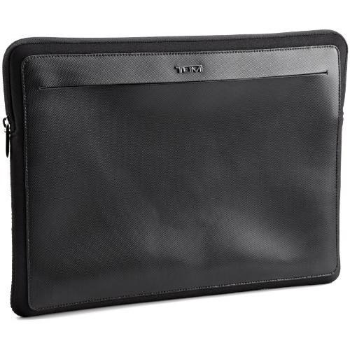 Tumi Luggage Alpha Leather Laptop Cover, Black, Medium