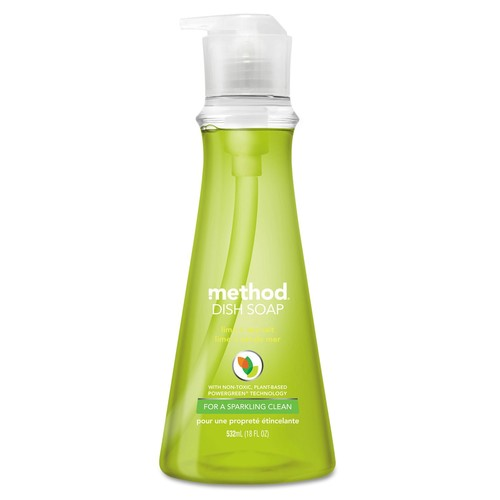 Method Dish Soap, Lime & Sea Salt, 18 oz Pump Bottle, 6/Carton | PJP Marketplace